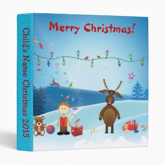 Christmas Toddler Ring Binder