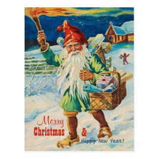 Christmas tomte with torch CC0938 Jenny Nyström Postcard