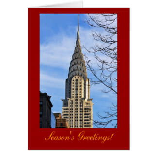 Christmas:Top of the Chrysler Building, Bare Trees Card