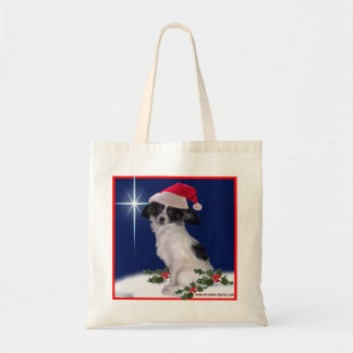 Christmas Tote Bag with Holiday Papillon