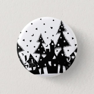 Christmas Town 1 Inch Round Button