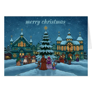 christmas town note card basic
