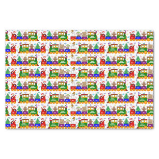 Christmas Toy Train and Jelly Beans Tissue Paper
