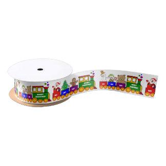 Christmas Toy Train Satin Ribbon