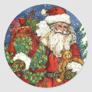 CHRISTMAS TOYS CLASSIC ROUND STICKER