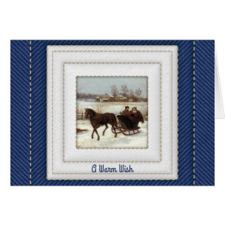 Christmas Traditions with One-Horse Open Sleigh Card