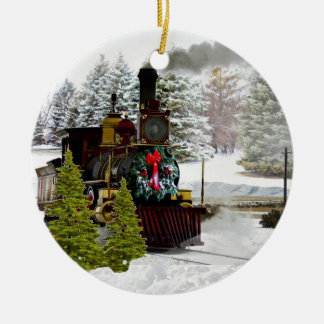 Christmas Train is Coming to Town Ornament
