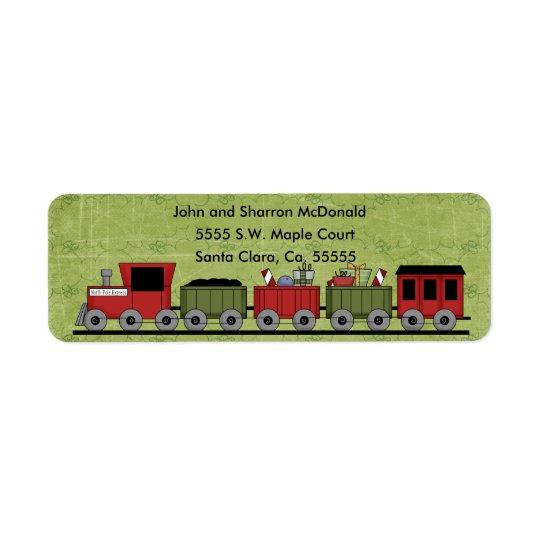 Christmas Train Return Labels