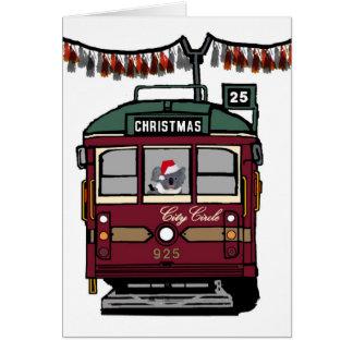 Christmas Tram Card