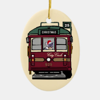 Christmas Tram Ornament