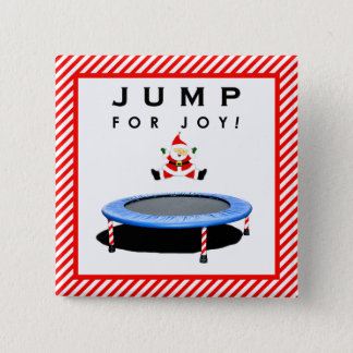 Christmas trampoline gifts 2 inch square button