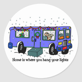 Christmas Travel RV stickers