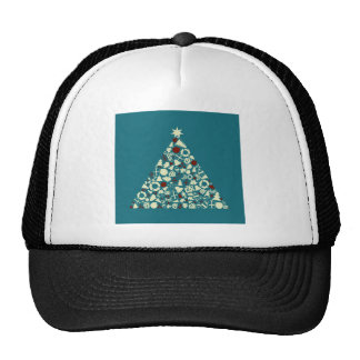 Christmas tree2 trucker hat