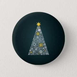 Christmas tree4 2 inch round button
