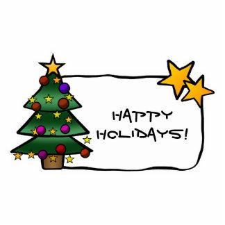 Christmas Tree 1 Photo Sculpture Magnet