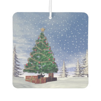Christmas tree - 3D render Air Freshener