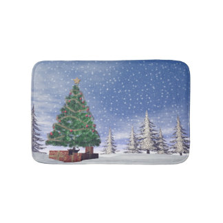 Christmas tree - 3D render Bath Mat