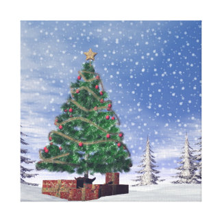 Christmas tree - 3D render Canvas Print