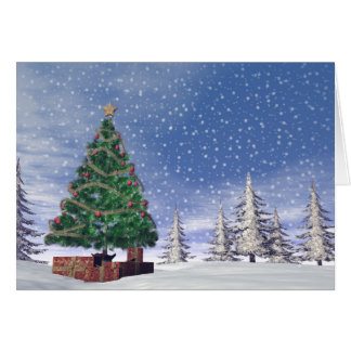 Christmas tree - 3D render Card
