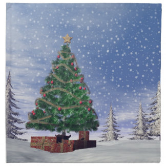 Christmas tree - 3D render Cloth Napkin