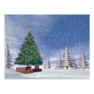 Christmas tree - 3D render Postcard