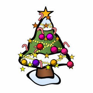Christmas Tree 4 Photo Sculpture Magnet