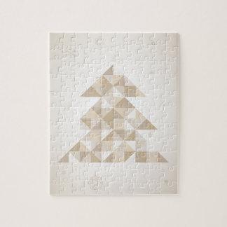 Christmas tree a triangle jigsaw puzzle