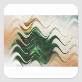 Christmas Tree Abstract Square Sticker