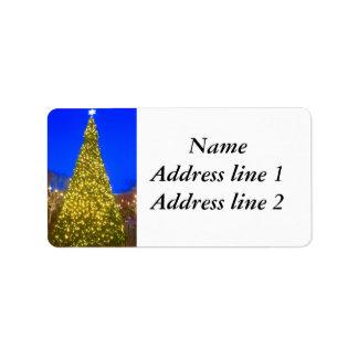 Christmas tree address labels