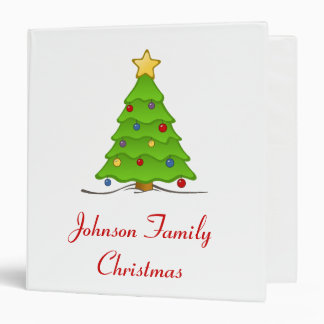 Christmas Tree Album - Customizable 3 Ring Binders