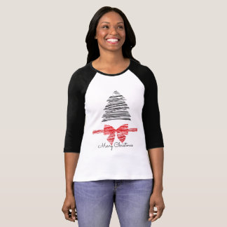 Christmas Tree and Bow Women's Christmas Shirt