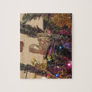Christmas tree and Christmas decorations Jigsaw Puzzle