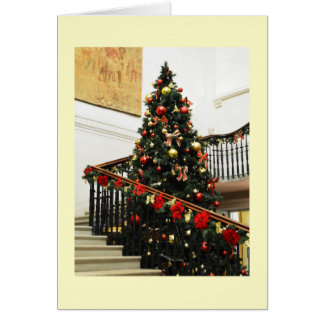 Christmas tree and decorations card