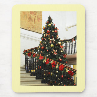 Christmas tree and decorations mouse pad