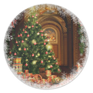 Christmas Tree and Gifts Plate
