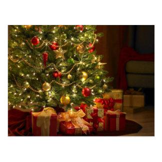 Christmas Tree and Gifts Postcard