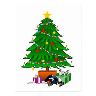 Christmas Tree and Presents Postcard