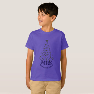 Christmas Tree And School Initials T-Shirt
