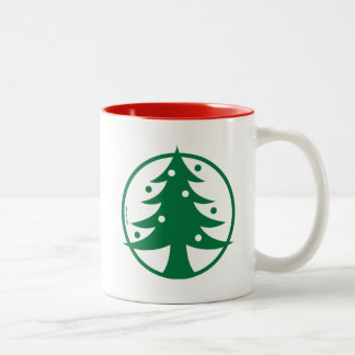 Christmas Tree Avatar Two-Tone Coffee Mug