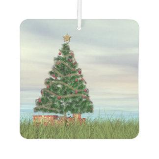 Christmas tree background - 3D render Car Air Freshener