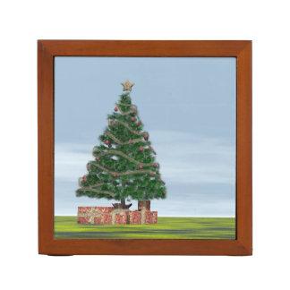 Christmas tree background - 3D render Desk Organizer