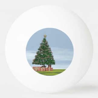 Christmas tree background - 3D render Ping Pong Ball