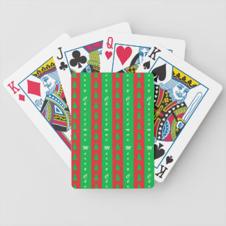 Christmas Tree Backgroundpattern Bicycle Playing Cards