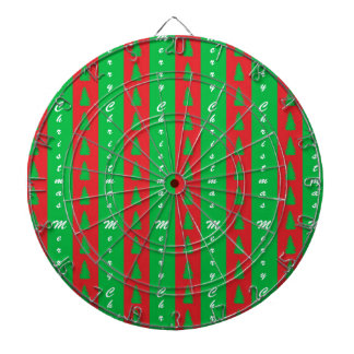 Christmas Tree Backgroundpattern Dartboard