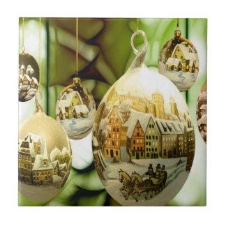 christmas tree balls with santa claus wand snow fl tile