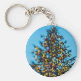 Christmas Tree Basic Round Button Keychain