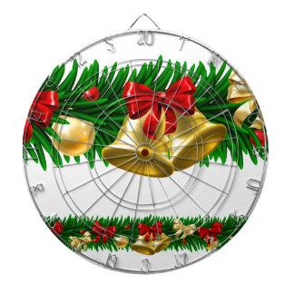 Christmas Tree Baubles Wreath Design Border Dartboard