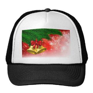 Christmas Tree Bells Background Trucker Hat