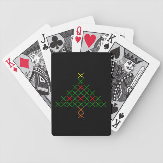 Christmas tree bicycle playing cards