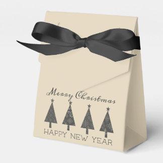 Christmas Tree Black Lace Elegant Minimal Trendy Favor Box